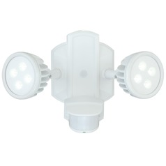 Lambda White LED Security Light by Vaxcel Lighting