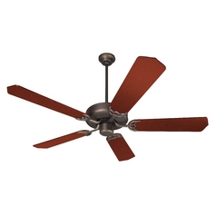 Craftmade 52-Inch Ceiling Fan in Oiled Bronze with Five Blades