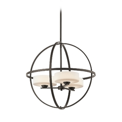 Kichler Modern Drum Pendant Light in Bronze Finish