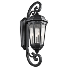 Kichler Lighting Courtyard Textured Black Outdoor Wall Light