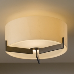 Hubbardton Forge Lighting Axis Dark Smoke Semi-Flushmount Light