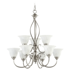 Quorum Lighting Spencer Classic Nickel Chandelier