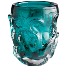 Cyan Design Dollop Cyan Blue Vase