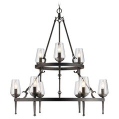 Golden Lighting Marcellis Dark Natural Iron Chandelier