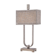 Modern Table Lamp in Old Silver Finish