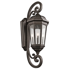 Kichler Lighting Courtyard Rubbed Bronze Outdoor Wall Light