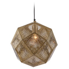Avenue Lighting La Brea Ave. Gold Pendant Light