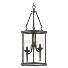 Golden Lighting Marcellis Dark Natural Iron Pendant Light