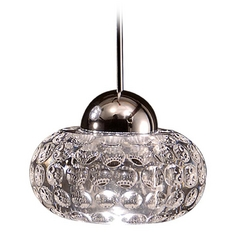 Wac Lighting LED Crystal Collection Chrome LED Mini-Pendant