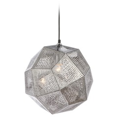 Avenue Lighting La Brea Ave. Chrome Pendant Light