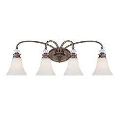 Craftmade Lighting Boulevard Mocha Bronze/silver Accents Bathroom Light