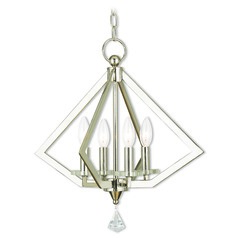 Livex Lighting Diamond Polished Nickel Mini-Chandelier