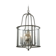 Elk Lighting Neo Classica Aged Black Nickel Pendant Light with Cylindrical Shade