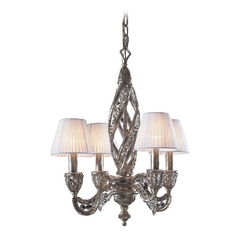 Modern Mini-Chandeliers in Sunset Silver Finish