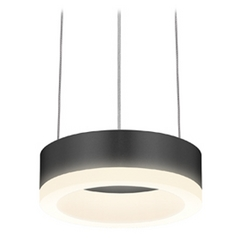 Modern LED Mini-Pendant Light with White Acrylic Shade