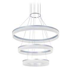 Saturn Metallic Silver LED Pendant Light