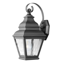 Livex Lighting Exeter Black Outdoor Wall Light