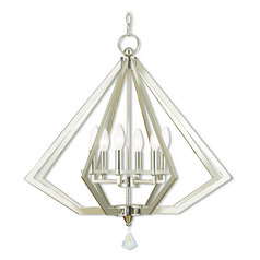 Livex Lighting Diamond Polished Nickel Chandelier