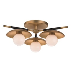 Hudson Valley Lighting Julien Aged Brass LED Semi-Flushmount Light