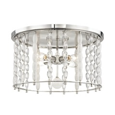 Hudson Valley Lighting Whitestone Polished Nickel Flushmount Light