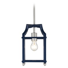 Leighton PW Mini Pendant in Pewter with Navy