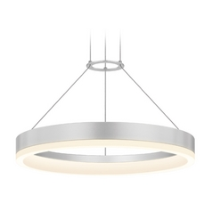 Modern LED Pendant Light in Aluminum Finish