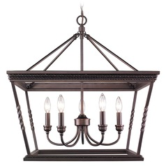 Golden Lighting Davenport Etruscan Bronze Chandelier