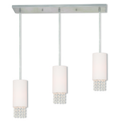 Livex Lighting Carlisle Brushed Nickel Multi-Light Pendant with Cylindrical Shade
