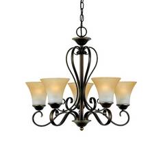 Quoizel Lighting Five-Light Chandelier DH5005PN