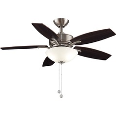 Fanimation Fans Aire Deluxe Brushed Nickel LED Ceiling Fan with Light
