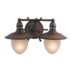 Orleans Antique Red Copper Bathroom Light by Vaxcel Lighting