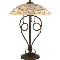 Quoizel Lighting Table Lamp with Tiffany Glass in Malaga Finish MY6325ML