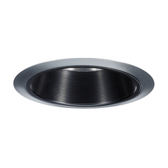 Juno Black Baffle Satin Chrome Recessed Trim - 6-Inch