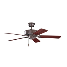 Kichler Lighting Renew Tannery Bronze Ceiling Fan Without Light