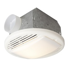 Craftmade Lighting Builder Series Designer White Exhaust Fan with Light