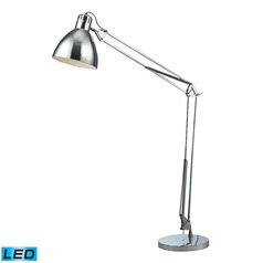 Dimond Lighting Chrome LED Floor Lamp with Bowl / Dome Shade