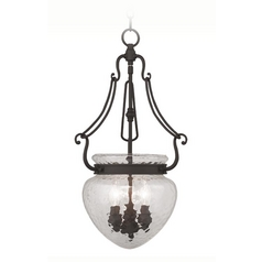Livex Lighting Duchess Bronze Pendant Light with Bowl / Dome Shade