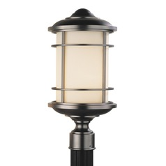Feiss Lighting Lighthouse Burnished Bronze LED Post Light