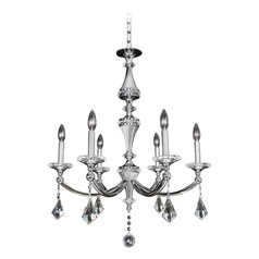 Allegri Floridia 6-Light Crystal Chandelier in Polished Chrome
