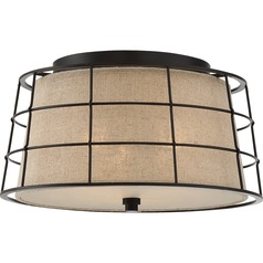Quoizel Lighting Landings Mottled Cocoa Flushmount Light