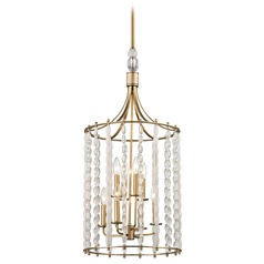 Hudson Valley Lighting Whitestone Aged Brass Pendant Light