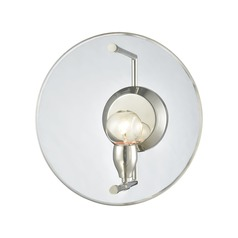 Elk Lighting Disco Polished Nickel Sconce