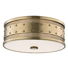 Hudson Valley Lighting Gaines Aged Brass Flushmount Light