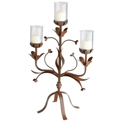Cyan Design Azalea Rust Candle Holder
