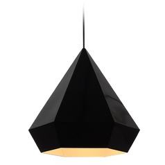 Avenue Lighting Doheny Ave. Black Pendant Light with Conical Shade