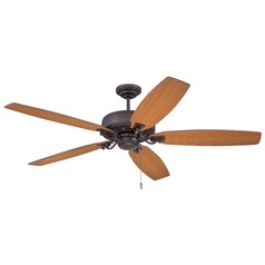 Ellington Patterson Oiled Bronze Gilded Ceiling Fan Without Light
