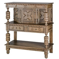 Currey and Company Lighting Jacques Distressed Cocoa Cabinets / Storage / Organization