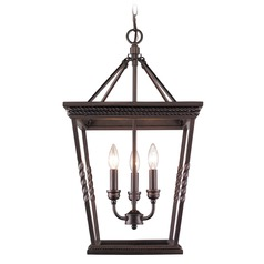 Golden Lighting Davenport Etruscan Bronze Pendant Light