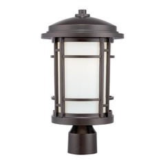 Designers Fountain Barrister Burnished Bronze LED Post Light