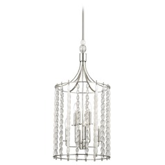 Hudson Valley Lighting Whitestone Polished Nickel Pendant Light